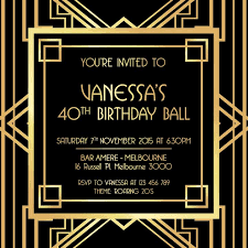 Great Gatsby Invitation Template Great Gatsby Invitation Black And Gold Great Gatsby