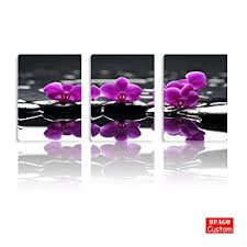 bpago flowers paintings purple orchid wall decor modern landscape painting on canvas wall art for living on purple orchid wall art with amazon bpago flowers paintings purple orchid wall decor modern