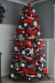 Designer Christmas Tree Ribbon Remodelaholic How To Decorate A Christmas Tree A Designer