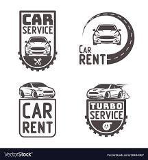 Car Template Automotive Car Rent Repair Logo Template Design Vector Image