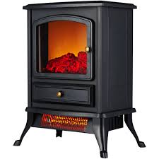 lifesmart lifezone electric infrared quartz low profile media fireplace heater black vent free com