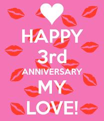third wedding anniversary wishes