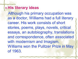 t s eliot stevenson williams ppt his literary ideas