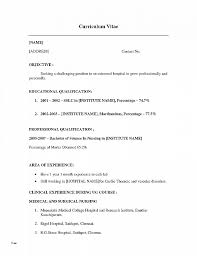 Example Cna Resume Extraordinary Resume Inspirational Professional Nursing Resume Template