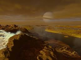 space art propelled scientific exploration of the cosmos but its the methane river delta on titan one of saturn s moons as depicted by space