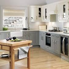 gray kitchen ideas white wall mount cabinet wooden island solid hardwood flooring