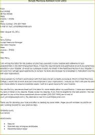 Pharmacy Technician Cover Letter No Experience Pharmacy Assistant