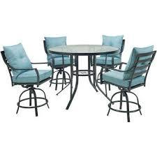 lavallette 5 piece steel round outdoor dining set