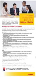 Business Development Manager Job Vacancy At Dhl