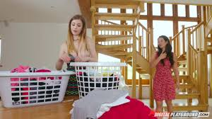 Eva Lovia and Stella Cox Evas Dirty Laundry Digital Playground.