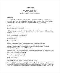 Personal Trainer Resume Sample Personal Trainer Resume Sample No