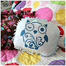 Owl Pillow Pattern Tutorial No Sew T Shirt Pillow Featuring Tulip Stencils Dollar