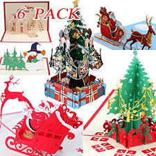 Christmas Cards Images Amazon Com 3d Christmas Cards Pop Up Greeting Cards Funny Unique