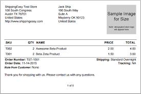 What Do Shippingeasy Prebuilt Template Packing Slips Look