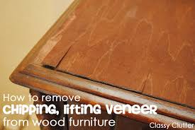 remove veneer from wood furniture