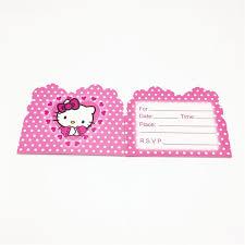 invitation card hello kitty kids favor 10pcs hello kitty pink invitation card girls happy