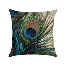 <b>Подушка</b> декоративная Peacock <b>Feather 45 х 45</b> см Berni, цена ...