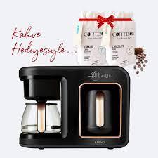 Karaca Hatır Plus 2 in 1 Black Copper Kahve Makinesi, Kahve Hediyeli