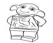 Lego Harry Potter Dobby Coloring Pages