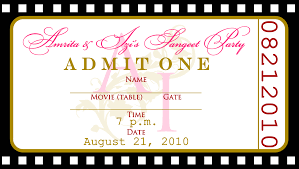 Invitation Ticket Template Movie Ticket Birthday Invitation Template Best Party Ideas 13