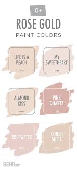 rose gold paint colors interiors by color