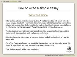 write a simple essay basic guide to essay writing kathy