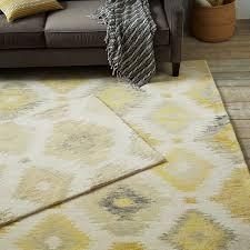 grey and gold ikat rug designs