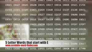 5 Letter Words That Start With E Youtube