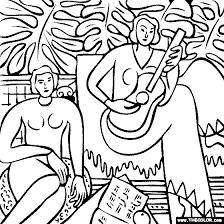 Henri Matisse La Musique Coloring Page