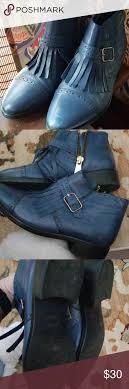 Miz Mooz Blue Ankle Boot Sz 39 Miz Mooz The Inuovo Short