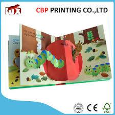 cute children 3d pop up board book printing for kids
