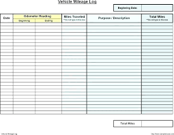 Mileage Chart Template Excel Mileage Calculator Editable Log Form