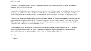 cover letter tasty adjunct professor sample adjunct faculty cover letter
