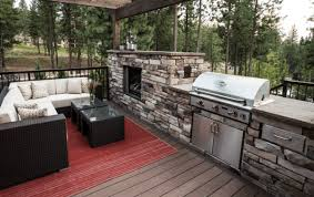 furniture patio deck grills fireplaces 14 inspiring outdoor kitchens with fireplace designs