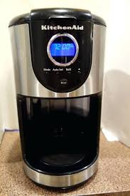 kitchenaid 12 cup coffeemaker white coffee maker with for produce awesome glass carafe kcm1202ob black