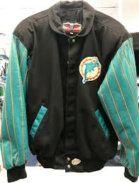 vintage jeff hamilton miami dolphins leather jacket large from jeff hamilton