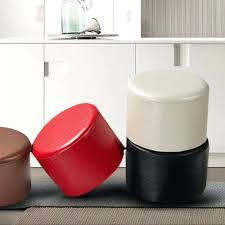 kids round chair leather round stools ottoman sofa chair portable furniture kids stool soft foam seat