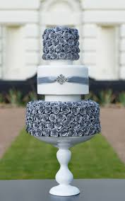 3 Tier Wedding Cake Custom Designed Bespoke Modern Floral Wedding Cake