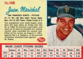 Size Of A Baseball Card Post Cereal Baseball Cards Marichal 1962 Post Cereal