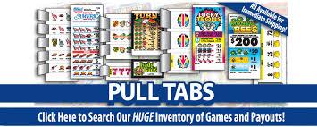 Used Pull Tab Vending Machines Simple Pull Tabs American Games Pull Tab Tickets Pull Tab Ticket