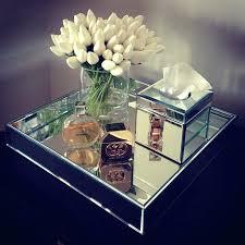 Bathroom Vanity Tray Decor Mirrored Bathroom Tray Mirror Home Decor White Tulips Mirror Tray 52