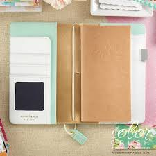 Travelers Journal Mint Floral Traveler Notebook Planners Color