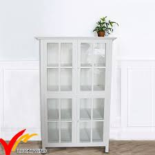 white book rack.  White White Glass Door Vintage Handmade Multilevels Design Book Rack Cabinet And T