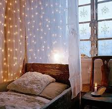 Diy Canopy Bed Bedroom Canopy Bed Lights Twinkling Lightsgorgeous Diy Canopy