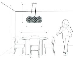 dining table light height room chandeliers chandelier suggested for