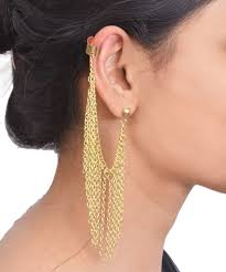 Ear Cuffs Indian Design Acellories Noisecanceling Earbuds With Inline Mic Black