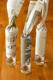 Gilded Gold Glass Bud Vases -- all this simple DIY vase idea requires is a