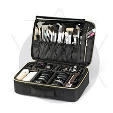 premium pro makeup bag hairdresser nail tools gadgets organizer partment travel cosmetic bag