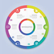 Circle Website Design Modern Infographic Circle Template With Six Options For