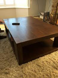 solid wood coffee table in walnut finish